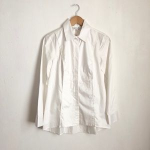 CAbi white buttoned down shirt size:S NWT career